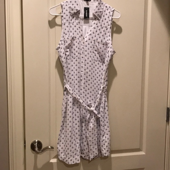 Express Dresses & Skirts - Summer dress in white front Buttoned.